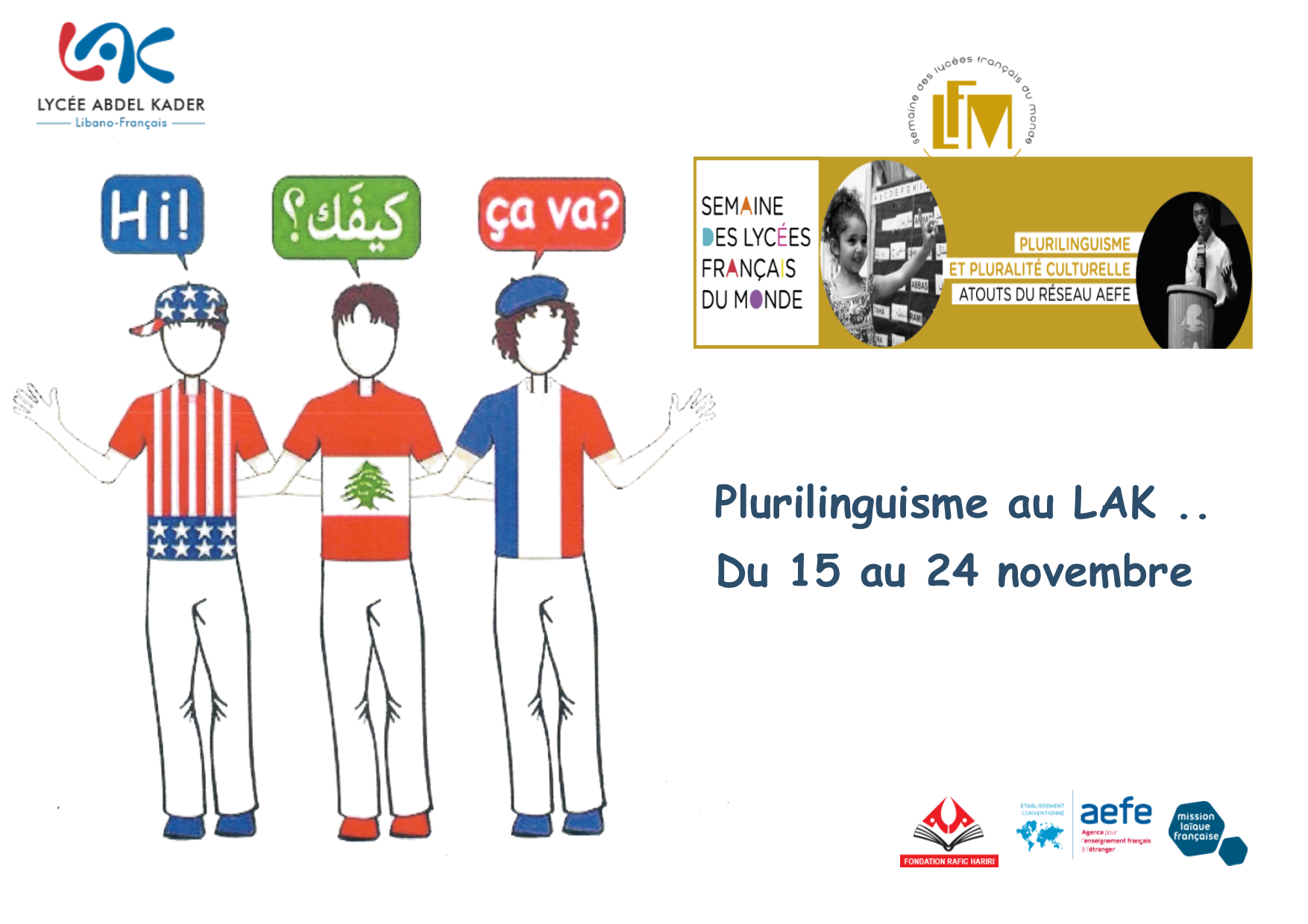 Semaine des lycées français au LAK – Projets des élèves