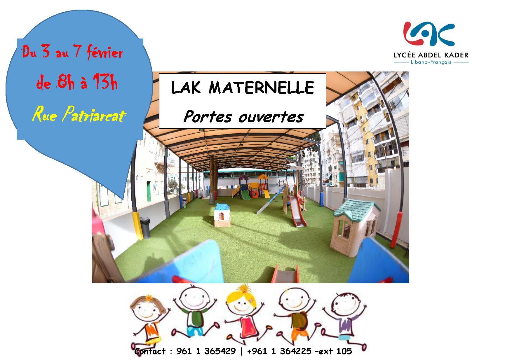 Ecole maternelle-Portes ouvertes-3 au7 février